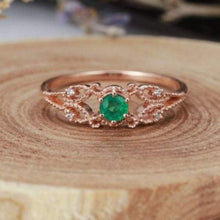 Load image into Gallery viewer, Natural Zambia Emerald Diamond Engagement Ring Gemstone Ring HK Jewellers