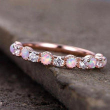 Load image into Gallery viewer, Opal Diamond Wedding Band Half Eternity Band HK Jewellers