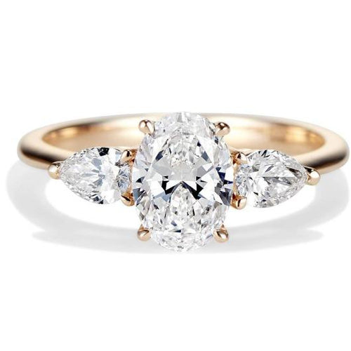 Oval Moissanite Gold Wedding Engagement Ring Engagement Ring HK Jewellers
