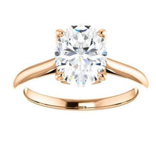 Load image into Gallery viewer, Oval Solitaire Engagement Ring Engagement Ring HK Jewellers
