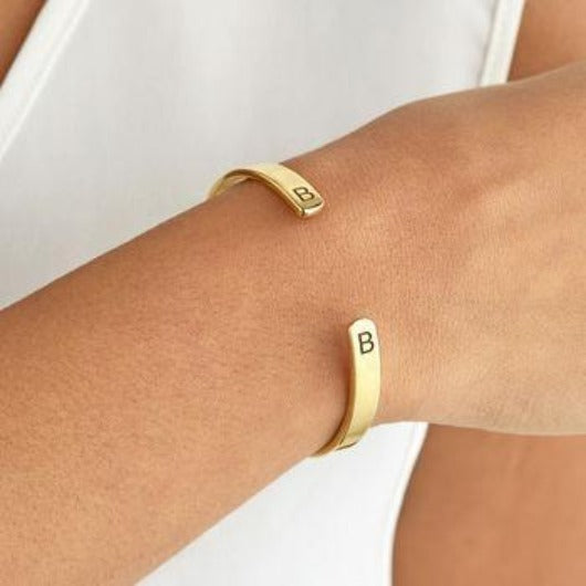 Personalized Silver Bracelet Gold Filled Jewelry For Bridesmaid Engraving Bangle Personalized Bracelet HK Jewellers Gold