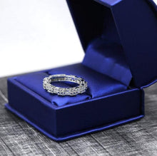 Load image into Gallery viewer, Princess Cut Emerald Eternity Band Women Band HK Jewellers