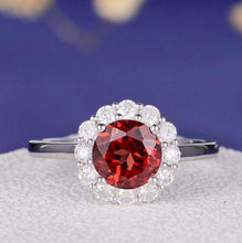 Load image into Gallery viewer, Red Garnet Engagement Ring Garnet Engagement Ring HK Jewellers