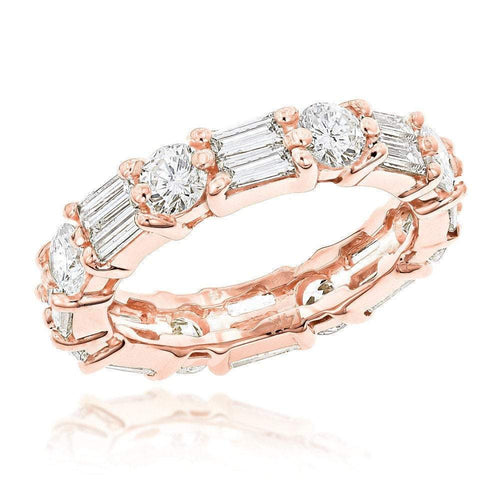 Round and Baguette Moissanite Eternity Band Wedding Band HK Jewellers