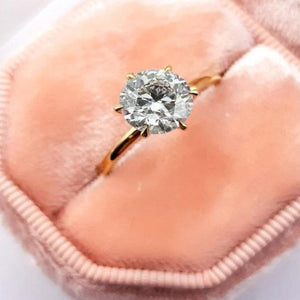 Round Brilliant Diamond Engagement Ring Wedding Ring HK Jewellers