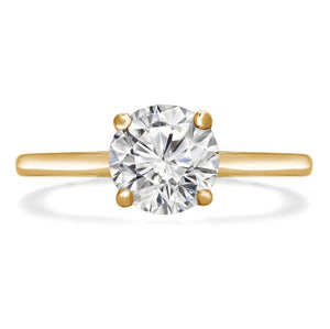 Round Diamond Solitaire Engagement Ring Wedding Ring HK Jewellers