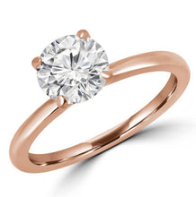 Load image into Gallery viewer, Round Diamond Solitaire Engagement Ring Wedding Ring HK Jewellers