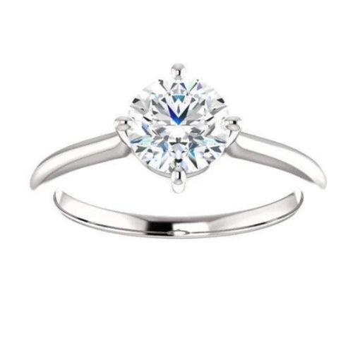 Round Solitaire Engagement Ring Wedding Ring HK Jewellers