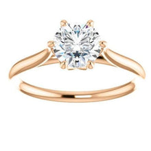 Load image into Gallery viewer, Round Solitaire Moissanite Engagement Ring Wedding Ring HK Jewellers