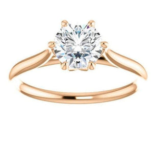 Round Solitaire Moissanite Engagement Ring Wedding Ring HK Jewellers