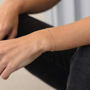 Solid 925 Silver Chain Bracelet Everyday Simple Jewelry Men Women Chain Bracelet HK Jewellers