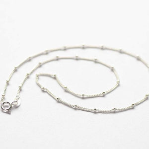 Solid 925 Sterling Silver Everyday Chain Necklace Men Women Wedding Jewelry Chain Necklace HK Jewellers