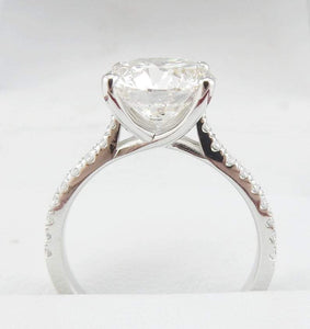 Solitaire Moissanite Engagement Ring Diamond Ring HK Jewellers
