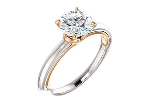 Solitaire Moissanite Engagement Wedding Ring Engagement Ring HK Jewellers