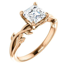 Load image into Gallery viewer, Solitaire Moissanite Leaf Engagement Ring Wedding Ring HK Jewellers