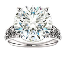 Load image into Gallery viewer, Solitaire Moissanite Wedding Engagement Ring, Wedding Ring HK Jewellers