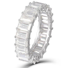Load image into Gallery viewer, Square Emerald Cut Diamond Eternity Band Wedding Band HK Jewellers
