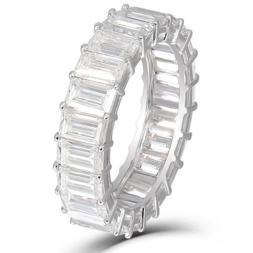 Square Emerald Cut Diamond Eternity Band Wedding Band HK Jewellers