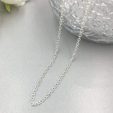 Load image into Gallery viewer, Sterling Silver Chain Necklace Solid 925 Everyday Jewelry Men Women Wedding Chain Necklace HK Jewellers