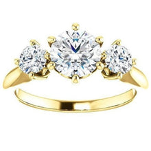 Load image into Gallery viewer, Tri -Stone Diamond Engagement Ring Engagement Ring HK Jewellers