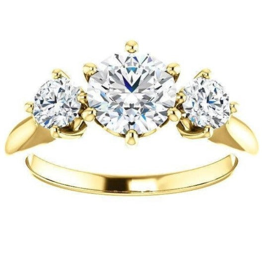 Tri -Stone Diamond Engagement Ring Engagement Ring HK Jewellers