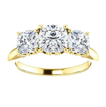 Load image into Gallery viewer, Tri -Stone Moissanite Engagement Ring Engagement Ring HK Jewellers