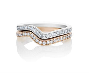 Twisted Half Eternity Band Wedding Band HK Jewellers