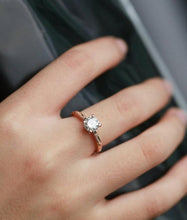 Load image into Gallery viewer, Vintage Solitaire Moissanite Engagement Ring, Vintage Ring HK Jewellers