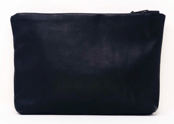 Black Leather Future Stripe Gado Bag