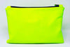 New! Big D Clutch, Neon Yellow Leather