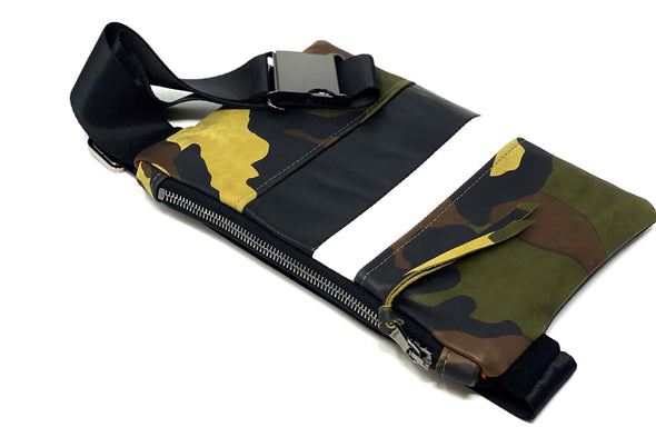 Camouflage Leather Medal Stripe Chest/Waist Gado Bag
