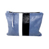 Denim Leather Medal Stripe Gado Bag