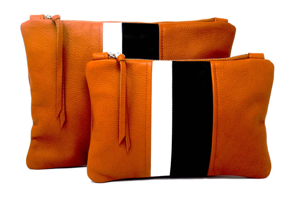 NEW! Tan Leather Medal Stripe Gado Bag