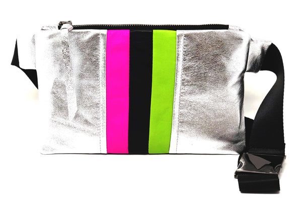 New! Future Stripe Leather Chest/Waist Gado Bag