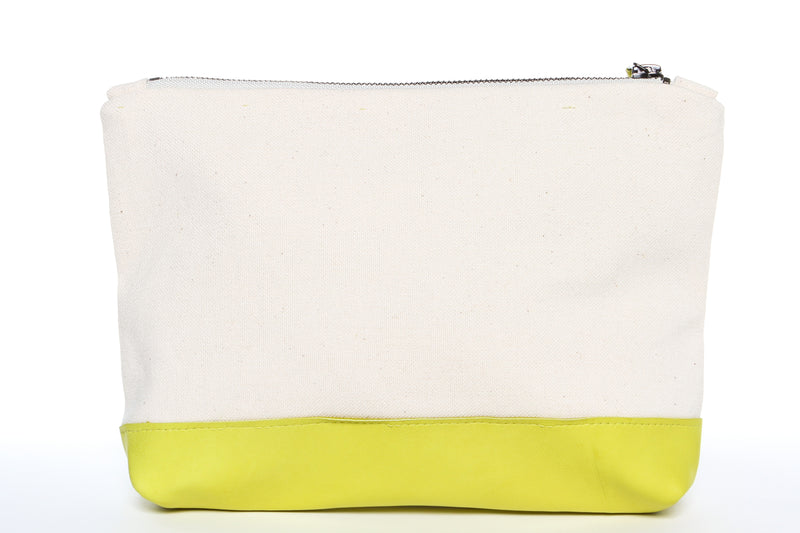 Nauty Wide Stripe Navy + Yellow Gado Bag