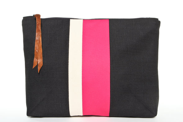 Pink Medal Stripe Gado Bag