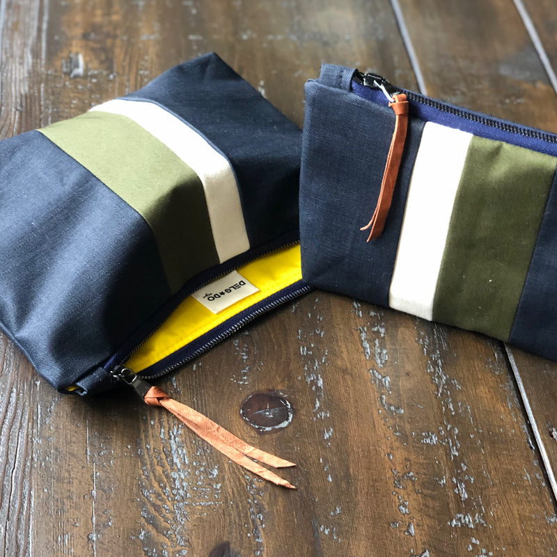 Army Green Medal Stripe Gado Bag