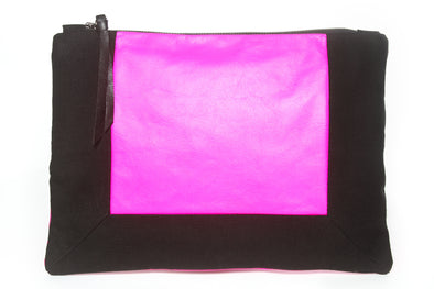 Black & Fuchsia Border Gado Bag