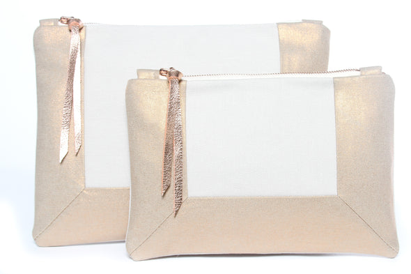 Rose Gold & Natural Border Gado Bag