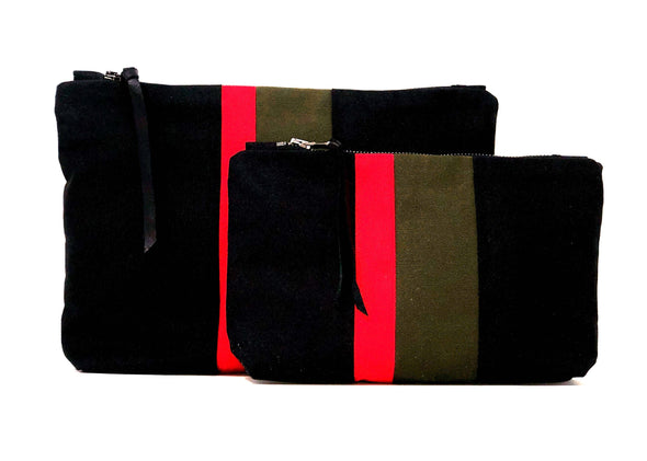 Black Medal Stripe Gado Bag