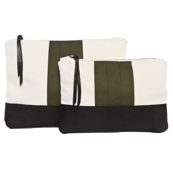 Army Green Sport Stripe Gado Bag