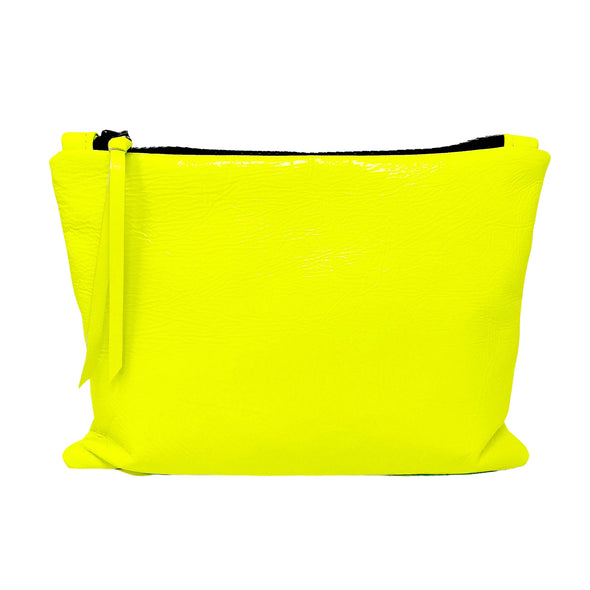 Neon Yellow Leather Gado Bag
