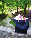 New! Denim Gado Carry All Tote Bag