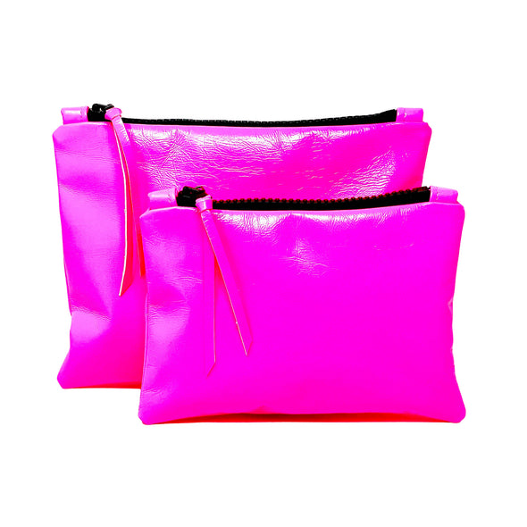 Neon Pink Leather Gado Bag