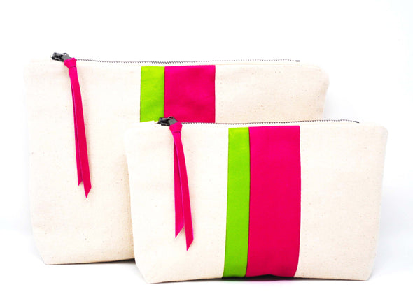 New! Watermelon Medal Stripe Gado Bag