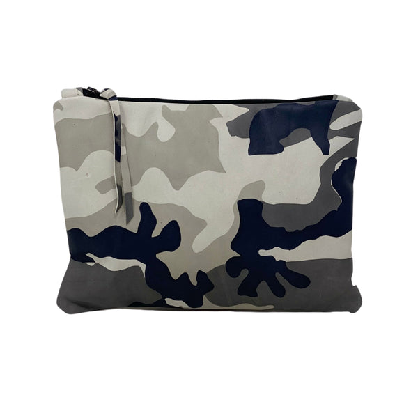 New! Black Camouflage Leather Gado Bag