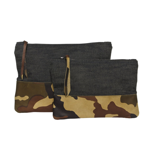Denim + Camouflage Leather Gado Bag