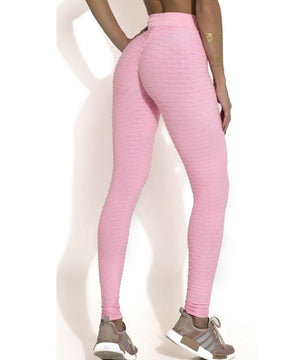 Textured Anti-Cellulite High Waist Booty Scrunch Push Up Leggings