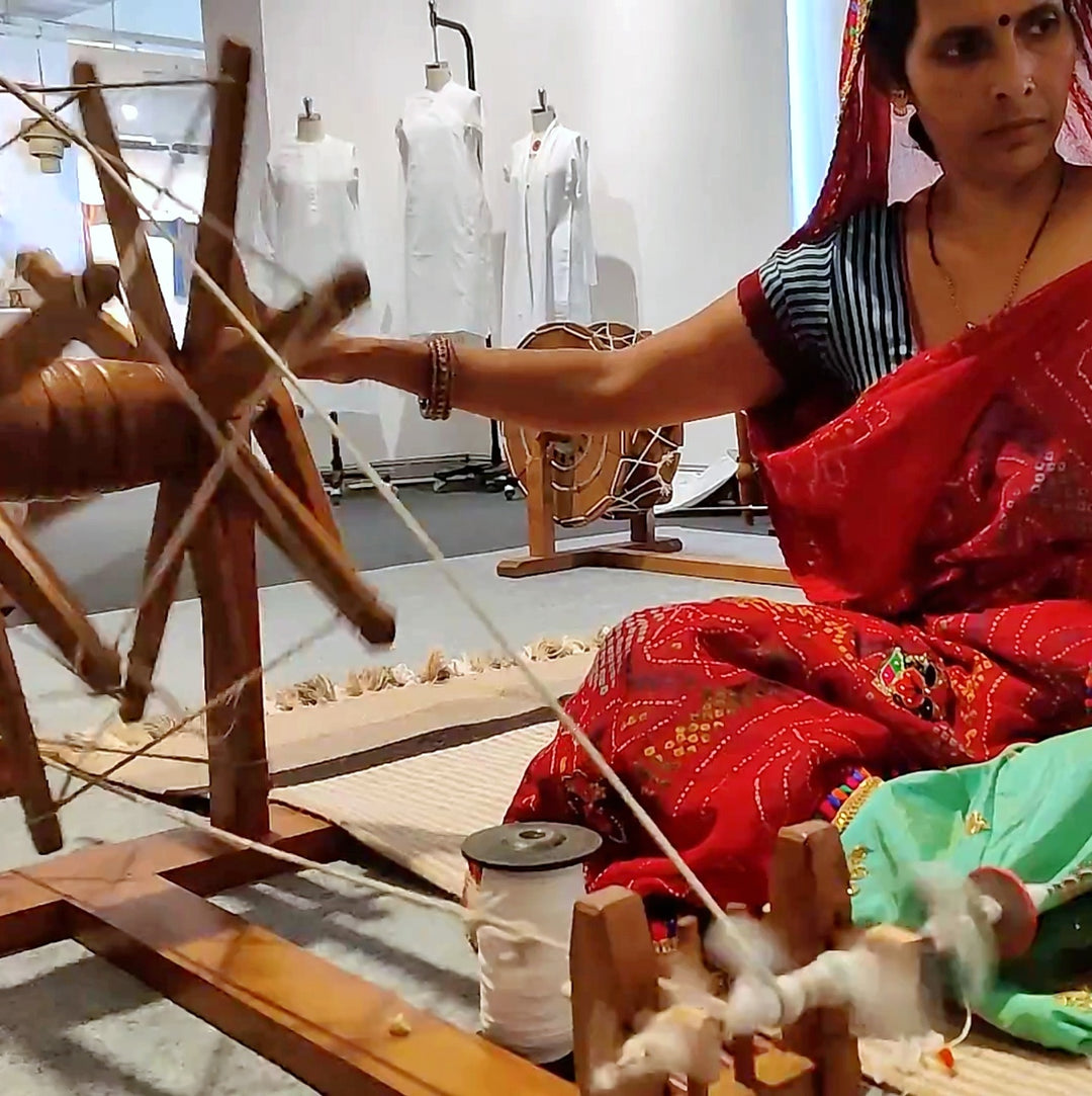 Where did the Charkha (Spinning Wheel) come from?