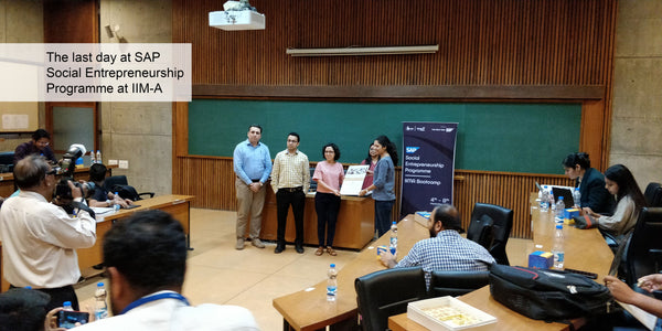 Last session attended by Rameshwari Kaul, Cotton Rack at SAP Social Entrepreneurship Programme at IIM Ahmedabad